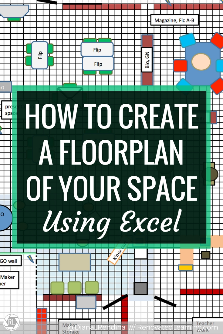 How to create a floorplan of your space in excel for Create my floor plan
