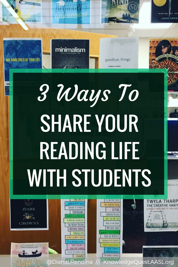 3 Ways to Share Your Reading Life With Students | If we want students to become lifelong readers, we need to model our reading life for them. Here are three things to try.