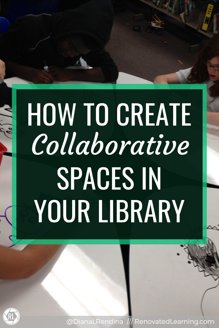 How to Create Collaborative Spaces in Your Library // Here are five different things you can do to create collaborative spaces to support your students in your library.